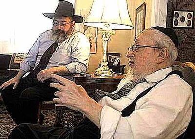 Rabbis Herschel (r) and Mendel (l) Fogleman