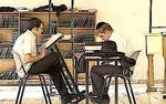 Two Litvish yeshiva students learning