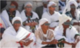 Ethiopian Jewish Women Falash Mura Eyes Covered Blurred