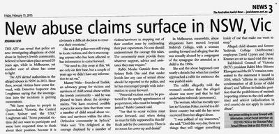 AJN new abuse allegations Sydney 2-15-2013 edition