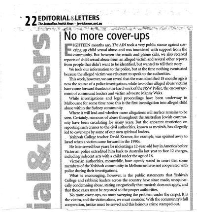 AJN Editorial child sexual abuse 2-15-2013 edition