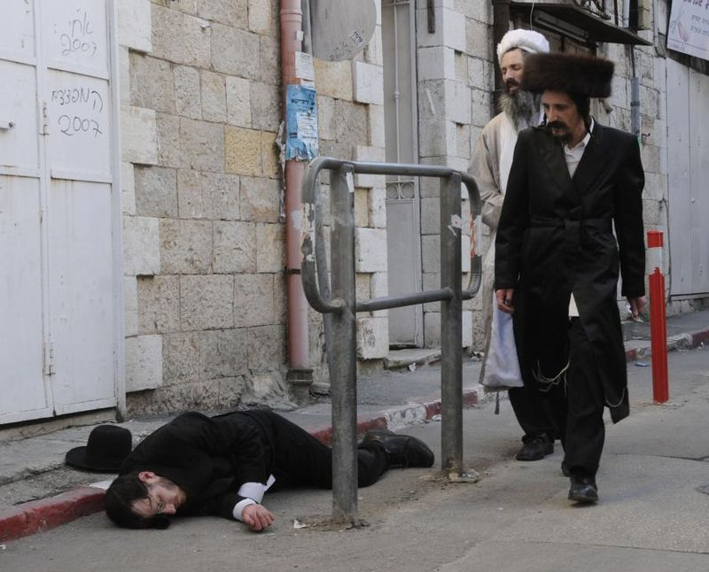 Passed Out In Mea Shearim On Purim