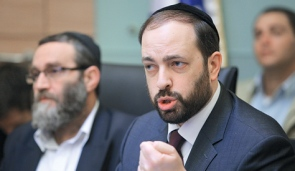 Aruel Attias right and Moshe Gafni left