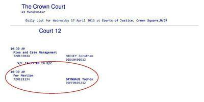 Todros Grynhaus court appearance 4-17-2013