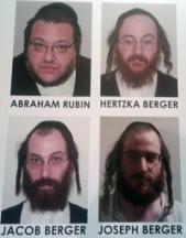 Mug shots of Berger brothers and Abraham Rubin 6-21-2012