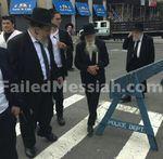 Rabbi Saul Kassin arrives at anti-Israel prostest Manhattan 6-9-2013