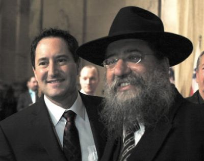 Montreal Mayor Michael Applebaum with Chabad Rabbi David Cohen 2