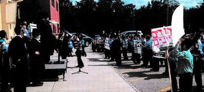 Hasidic kids hold anti-haredi draft rally in Spring Valley 7-2013
