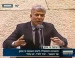 Yair Lapid speaking in Knesset 4-2013