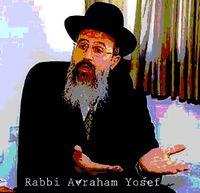 Rabbi Avraham Yosef with name hands 2