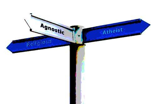 Religious Atheist Agnostic street sign