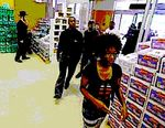 25 non-Jewish Ramapo protesters iner hasidic grocery to buy water and chips, 6-2013