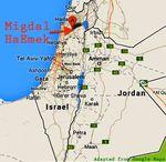 Migdal HaEmek map