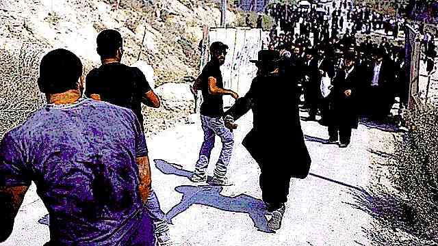 Haredm riot at Beit Shemesh construction site 8-13-2013