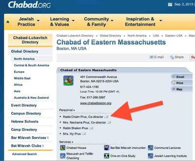 Chabad of Eastern Massachusetts Rabbi Chaim Prus