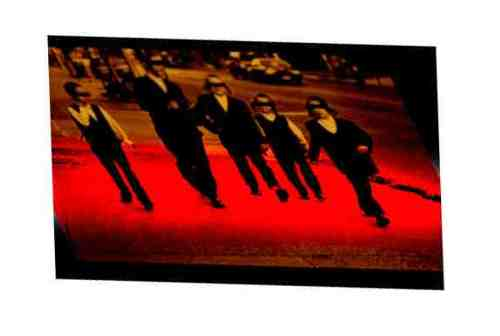 Haredi kids walking eyes covered red