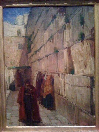 Kotel painted by Henry Ossawa Tanner in 1897