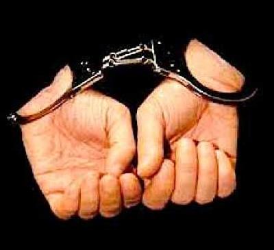 Haredi handcuffs black suit 2