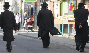 Haredi men walking