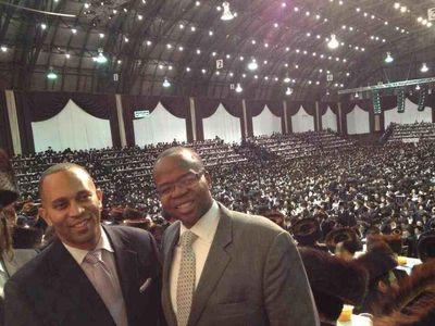 Ken Thompson and Rep. Hakeem Jeffries at Satmar Aharon faction 11-23-2013