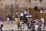 Hanukkah Menorah at Kotel