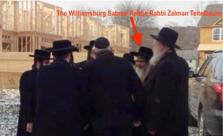 Satmar Rebbe Zalman Teitelbaum visits Bloomingburg construction site of Kiryas Yated Lev 12-25-2013