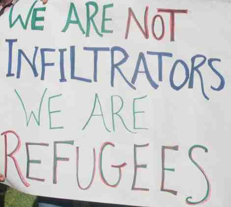 We are not infiltrators, we are refugees
