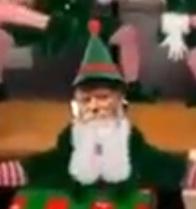 Rebbe Rabbi Menachem Mendel Schneerson as Christmas elf