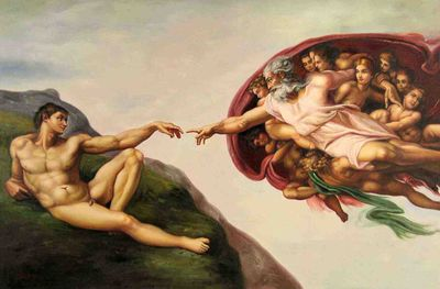 Finger of God-the-creation-of-adam