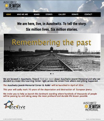 Auschwitz memorial center kollel website captured 1-28-2014