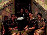 Female IDF soldiers sitting
