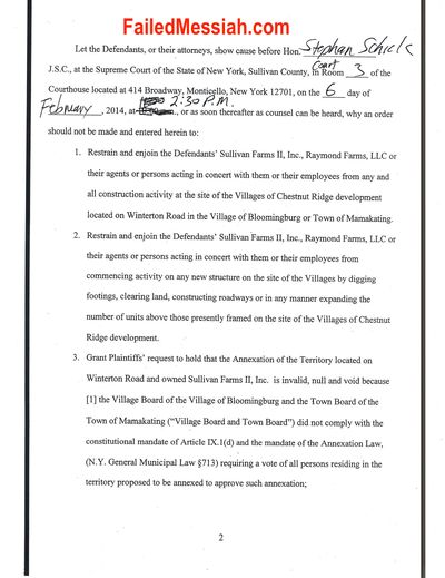 Lawsuit v Bloomingburg and Shalom Lamm 1-30-2014_Page_2