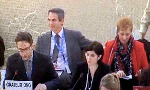 WJC's Lisa Rahamani testifying before UN shechita circumcision 3-2014
