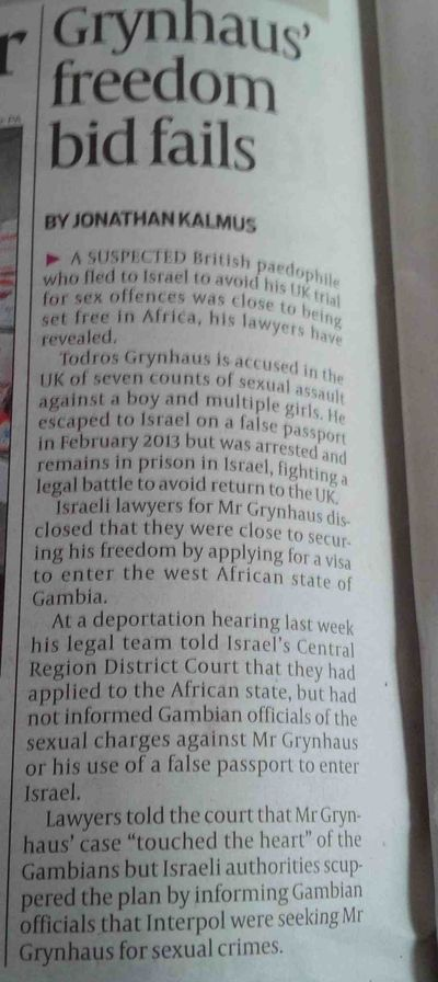 Todros Grynhaus tries to flee to Gambia The JC  4-18-2014