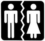 Mechitzah Gender Segregation stylized sign