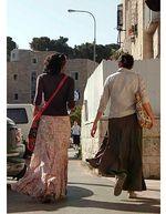 Zionist Orthodox Girls Walking in Israel