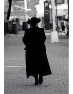 Haredi man from behind
