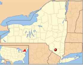 Map of Bloomingburg, New York