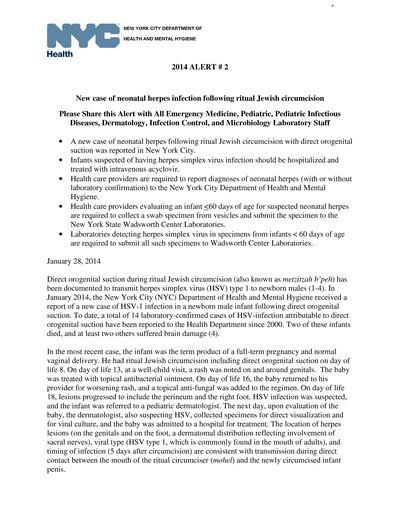2014 - NYC DOHMH Neonatal HSV Alert_Page_1