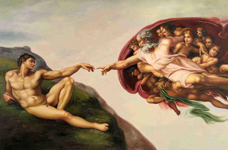 Finger of God-the-creation-of-adam