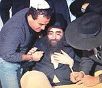 Police Commander Menashe Arbiv and Rabbi Yoshiyahu Yosef Pinto