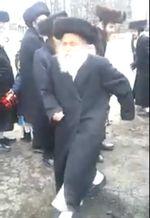 Neturei Karta spits on pro-Israel protesters Purim 2014 Monsey NY