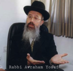 Rabbi Avraham Yosef with name hands