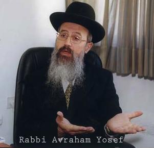Rabbi Avraham Yosef with name hands