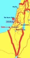 Ashdod map of Israel