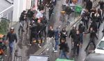 JDL, Beitar charging fleeing pro-Palestinian rioters near Paris synagogue 7-2014