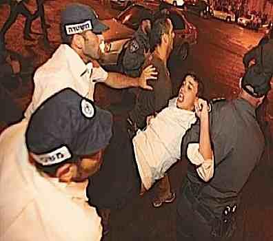 Haredi yeshiva student arrested Jerusalem anti-draft protest 8-17-2014