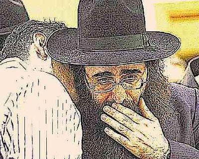 Rabbi Yoshiyahu Yosef Pinto hand on mouth closeup 2