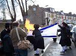 Neturei Karta Burning Israeli Flag