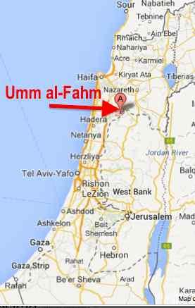 Umm al-Fahm map